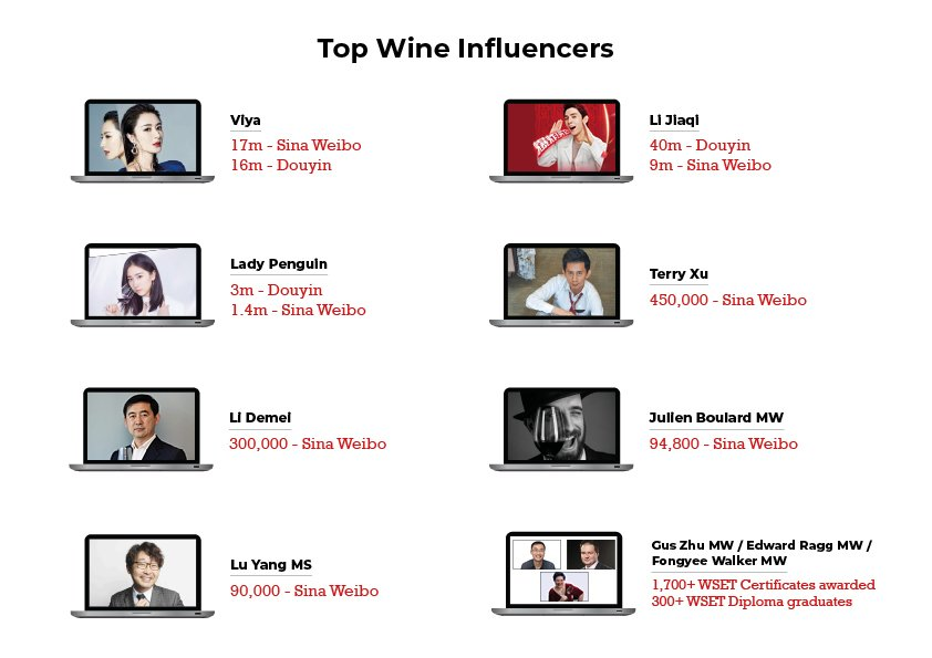 Top wine influencers in China