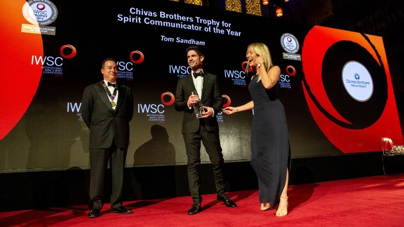 Tom Sandham at the IWSC banquet 2018.jpg
